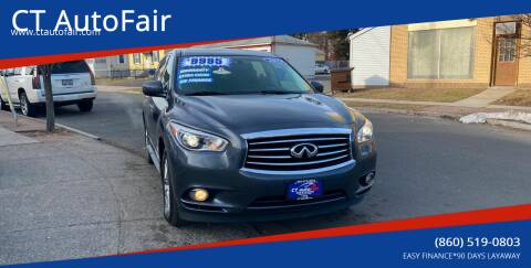 2013 Infiniti JX35 for sale at CT AutoFair in West Hartford CT