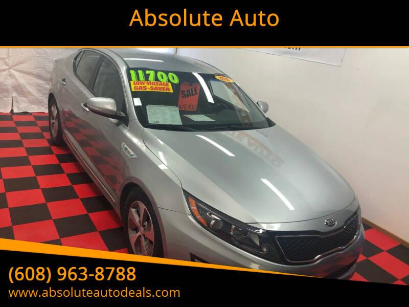 2015 Kia Optima Hybrid for sale at Absolute Auto in Baraboo WI