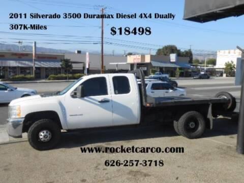 2011 Chevrolet Silverado 3500HD for sale at Rocket Car sales in Covina CA