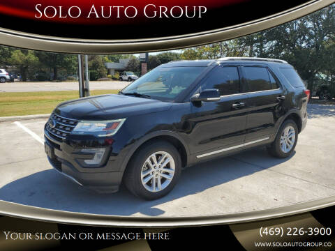 2017 Ford Explorer for sale at Solo Auto Group in Mckinney TX