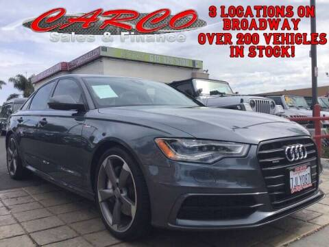2015 Audi A6 for sale at CARCO SALES & FINANCE in Chula Vista CA
