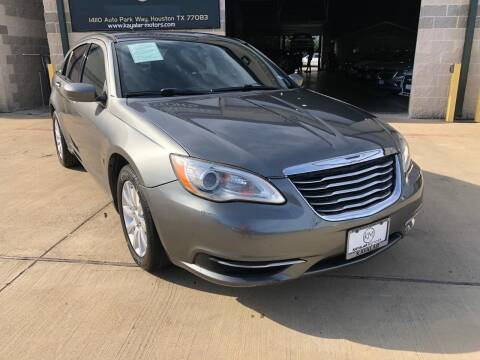 2013 Chrysler 200 for sale at KAYALAR MOTORS Mechanic in Houston TX