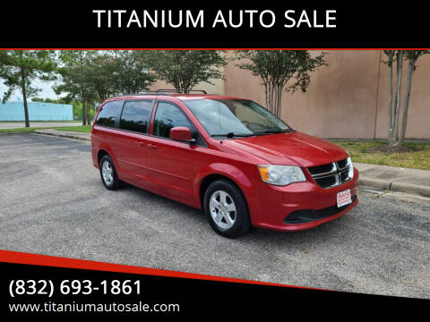 2013 Dodge Grand Caravan for sale at TITANIUM AUTO SALE in Houston TX