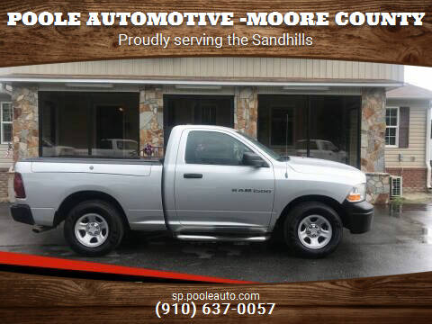 2012 RAM Ram Pickup 1500 for sale at Poole Automotive -Moore County in Aberdeen NC