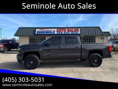 2016 Chevrolet Silverado 1500 for sale at Seminole Auto Sales in Seminole OK