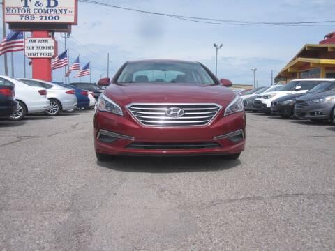 2015 Hyundai Sonata for sale at T & D Motor Company in Bethany OK