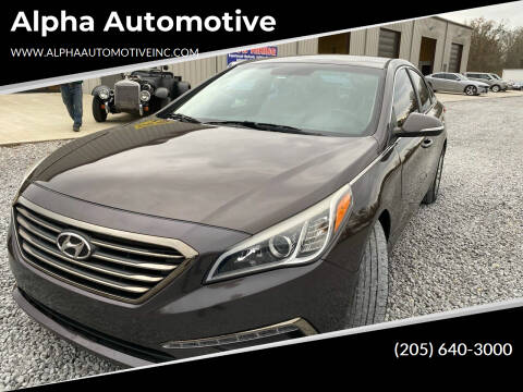 2015 Hyundai Sonata for sale at Alpha Automotive in Odenville AL