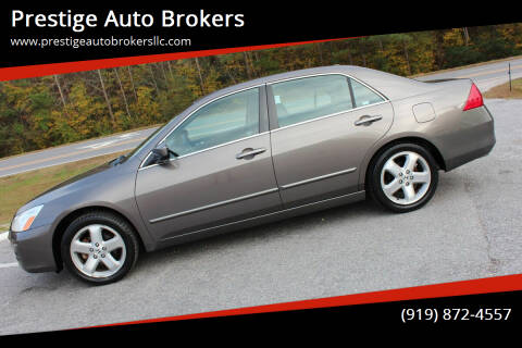 2006 Honda Accord for sale at Prestige Auto Brokers in Raleigh NC