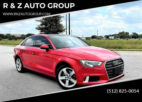 2018 Audi A3 for sale at R & Z AUTO GROUP in Austin TX