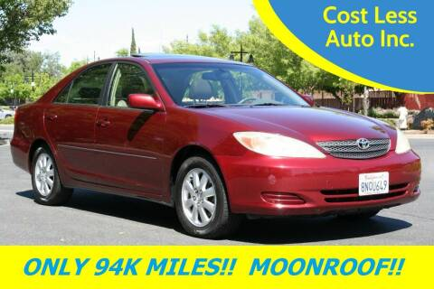 2002 Toyota Camry for sale at Cost Less Auto Inc. in Rocklin CA