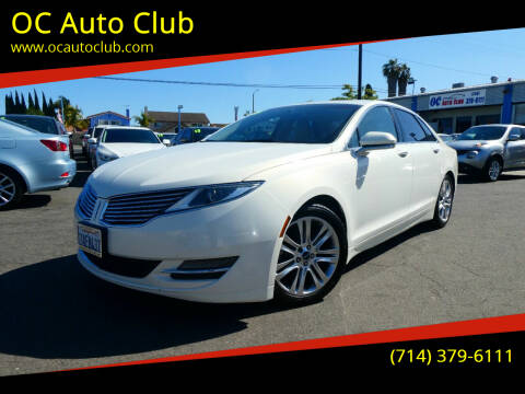 2013 Lincoln MKZ for sale at OC Auto Club in Midway City CA