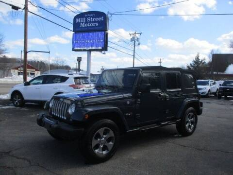 2016 Jeep Wrangler Unlimited for sale at Mill Street Motors in Worcester MA