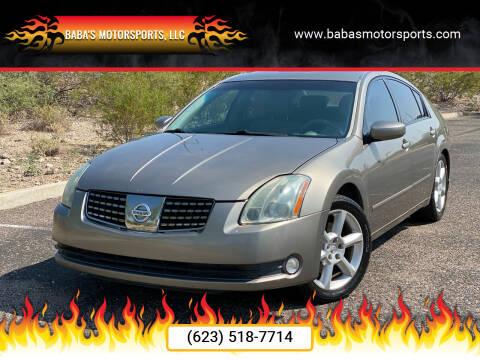2004 Nissan Maxima for sale at Baba's Motorsports, LLC in Phoenix AZ