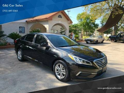 2016 Hyundai Sonata for sale at G&J Car Sales in Houston TX