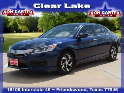 2017 Honda Accord for sale at Ron Carter  Clear Lake Used Cars in Houston TX