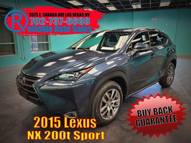 2015 Lexus NX 200t for sale at Reliable Auto Sales in Las Vegas NV