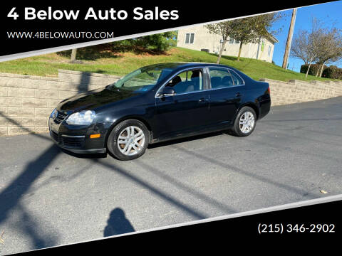 2007 Volkswagen Jetta for sale at 4 Below Auto Sales in Willow Grove PA