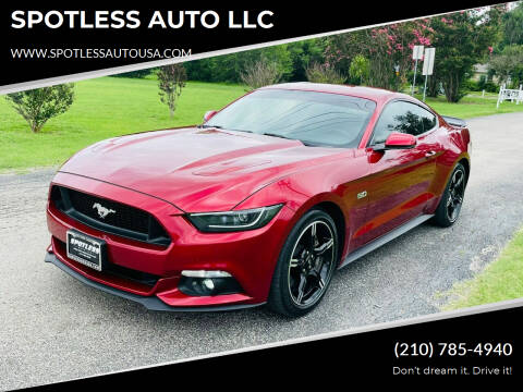 2017 Ford Mustang for sale at SPOTLESS AUTO LLC in San Antonio TX