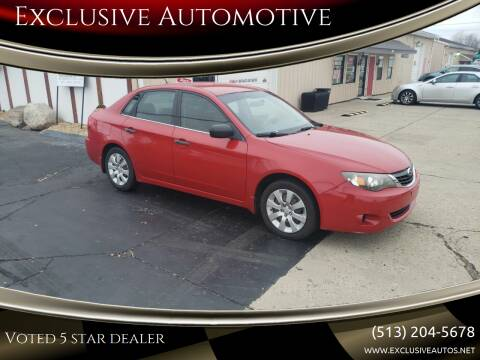 2008 Subaru Impreza for sale at Exclusive Automotive in West Chester OH
