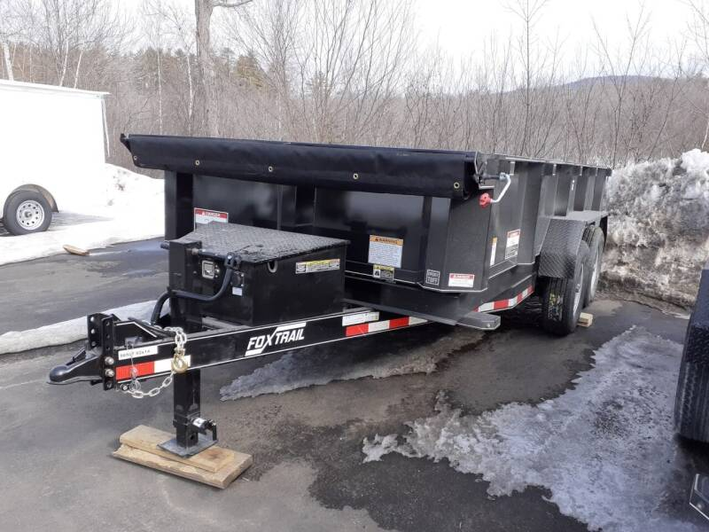 """2021 Foxtrail 82"""" x 14' Master Dump Trailer for sale at Mascoma Auto INC in Canaan NH"""