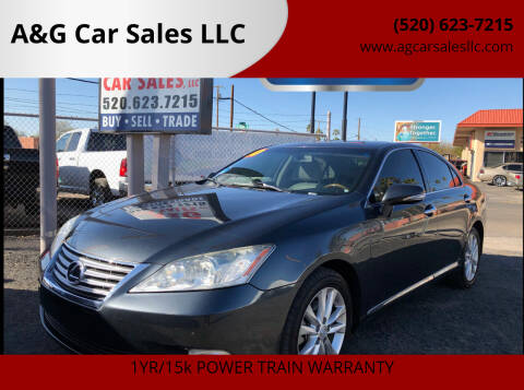 2010 Lexus ES 350 for sale at A&G Car Sales  LLC in Tucson AZ
