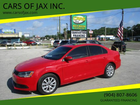 2012 Volkswagen Jetta for sale at CARS OF JAX INC. in Jacksonville FL