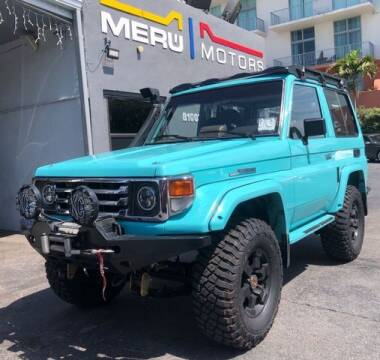 1994 Toyota Land Cruiser for sale at Meru Motors in Hollywood FL