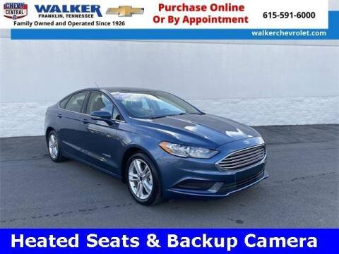 2018 Ford Fusion Hybrid for sale at WALKER CHEVROLET in Franklin TN
