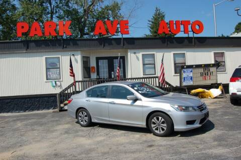 2014 Honda Accord for sale at Park Ave Auto Inc. in Worcester MA