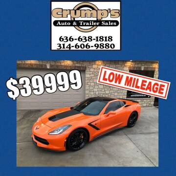 2014 Chevrolet Corvette for sale at CRUMP'S AUTO & TRAILER SALES in Crystal City MO