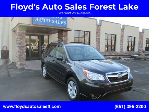 2016 Subaru Forester for sale at Floyd's Auto Sales Forest Lake in Forest Lake MN