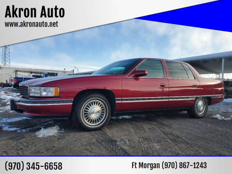 1994 Cadillac DeVille for sale at Akron Auto - Fort Morgan in Fort Morgan CO