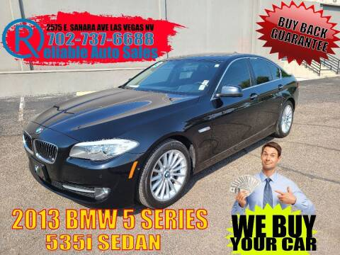 2013 BMW 5 Series for sale at Reliable Auto Sales in Las Vegas NV
