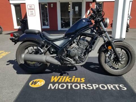 2017 Honda Rebel 300 for sale at WILKINS MOTORSPORTS in Brewster NY