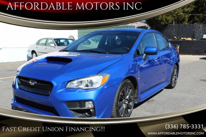 2016 Subaru WRX for sale at AFFORDABLE MOTORS INC in Winston Salem NC