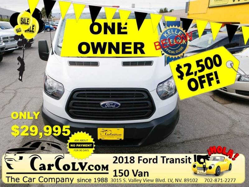 2018 Ford Transit Cargo for sale at The Car Company in Las Vegas NV