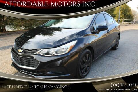 2018 Chevrolet Cruze for sale at AFFORDABLE MOTORS INC in Winston Salem NC