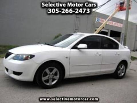 2004 Mazda MAZDA3 for sale at Selective Motor Cars in Miami FL