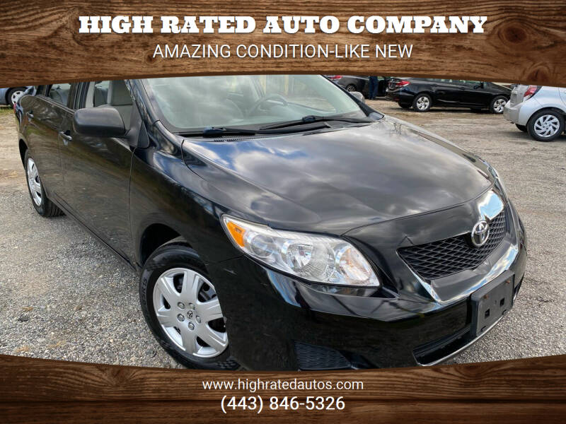 2010 Toyota Corolla for sale at High Rated Auto Company in Abingdon MD
