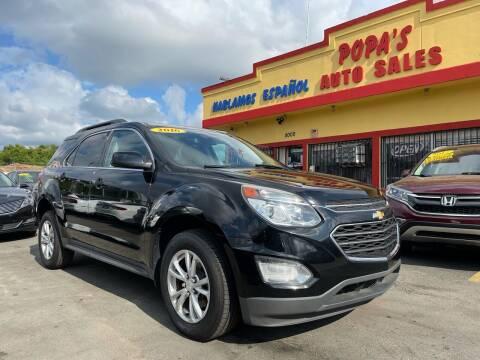 2016 Chevrolet Equinox for sale at Popas Auto Sales in Detroit MI