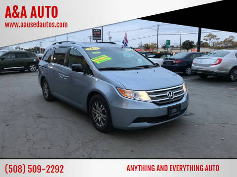 2012 Honda Odyssey for sale at A&A AUTO in Fairhaven MA