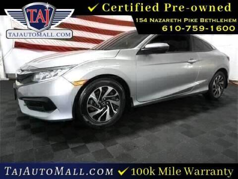 2016 Honda Civic for sale at Taj Auto Mall in Bethlehem PA