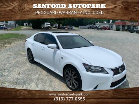 2014 Lexus GS 350 for sale at Sanford Autopark in Sanford NC