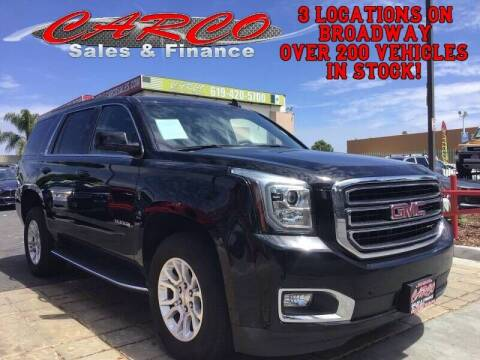 2017 GMC Yukon for sale at CARCO SALES & FINANCE in Chula Vista CA