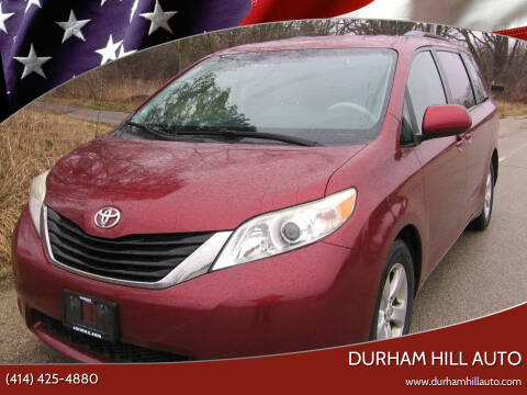 2012 Toyota Sienna for sale at Durham Hill Auto in Muskego WI