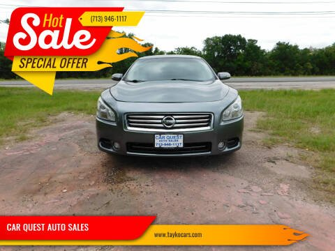 2014 Nissan Maxima for sale at CAR QUEST AUTO SALES in Houston TX