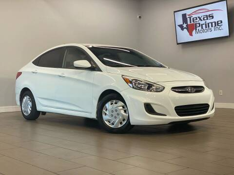 2017 Hyundai Accent for sale at Texas Prime Motors in Houston TX