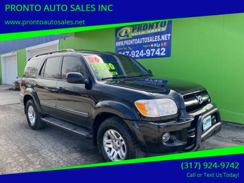2006 Toyota Sequoia for sale at PRONTO AUTO SALES INC in Indianapolis IN