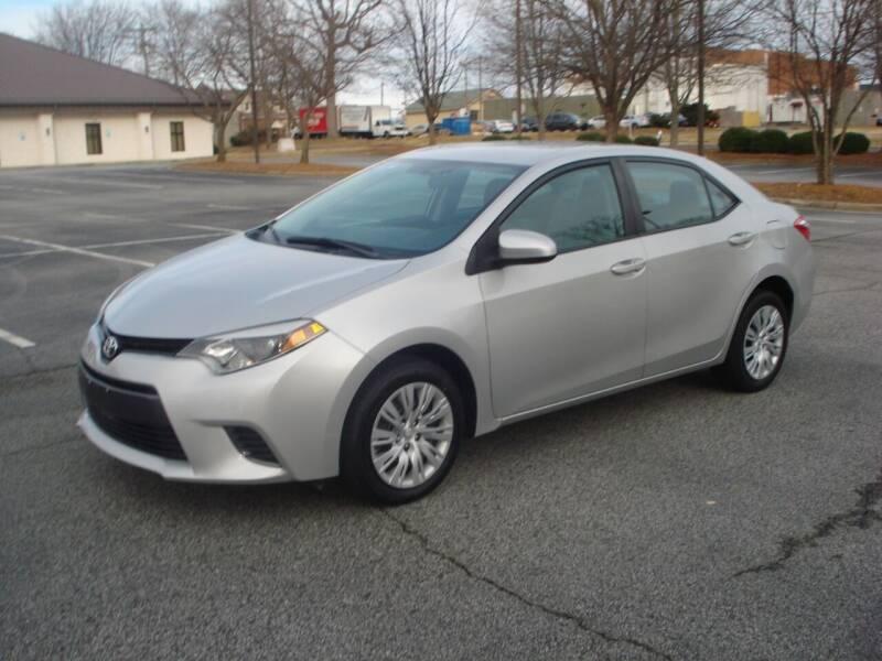 2016 Toyota Corolla for sale at Uniworld Auto Sales LLC. in Greensboro NC