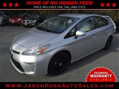 2013 Toyota Prius for sale at Jason Ross Auto Sales in Burlington NC